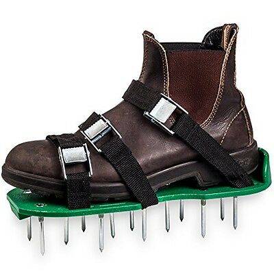 Green Toolz Lawn Aerator Shoes with Metal Buckles and 6 Straps - Heavy Duty