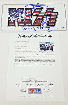 KISS BAND SIGNED LICENSE PLATE Gene Simmons Paul Stanley + more PSA/DNA AB08747