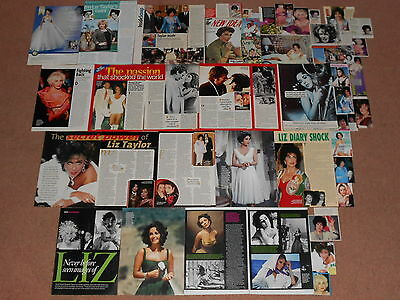 40- ELIZABETH TAYLOR Magazine Clippings (A)