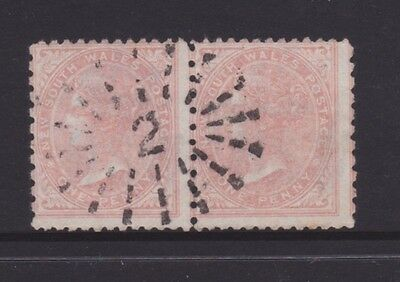 "NSW 1882-861d Red QV SIDEFACE PAIR RAY CANCEL ""2"" PAIR  (CL133E)"