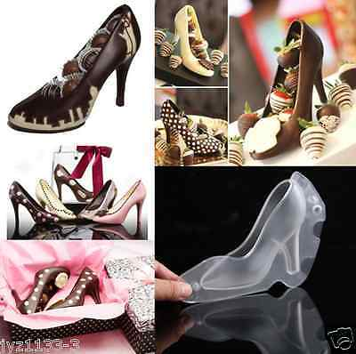 3D High Heel Shoe Type Chocolate Mold Candy Cookies Tool PC DIY Mould