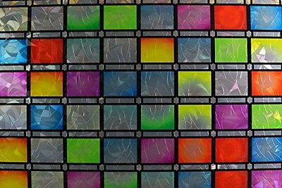Gila 50165299 Privacy Control Stained Glass Atlantis Static Cling Window Film,