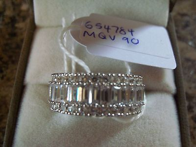 NEW QVC Sterling Silver DIAMONIQUE Ring Size O