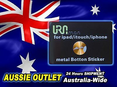 Gold Metal Steve Jobs Home Button Sticker For Apple iPhone/iTouch/iPad - Aussie