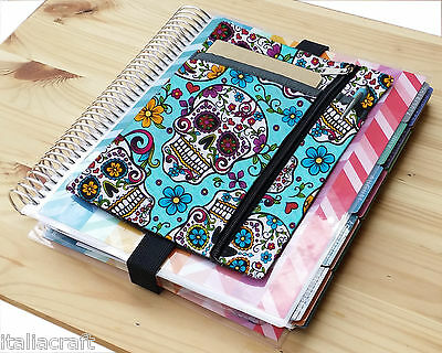 Turquoise planner band zippered 365 Happy Planner A5 Domino ECLP pencil case