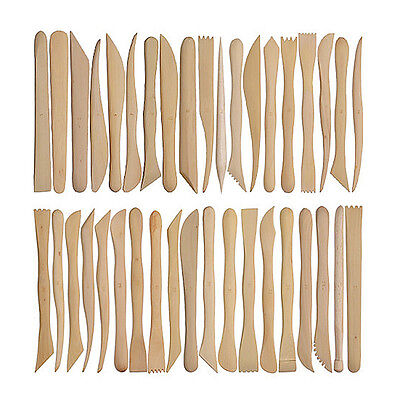 38pcs 6inch Wooden Polymer Clay Pottery Mini Sharping Modeling Tools Set HOT
