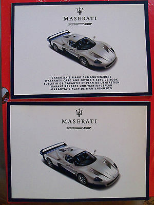 Manuale uso e manutenzione/ Owner's manual - Maserati MC12