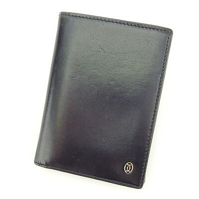 Auth Cartier Tri-Fold Wallet Pasha Mens used J15444