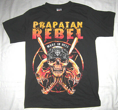 Merchandising Shirt PRABATAN REBEL Made In Hell Gr M schwarz Bandung Indonesien
