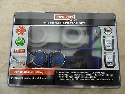 Sink Mixer Tap Aerator Set M22 M24 M28 -17 Pieces Set For All Standard Fittings
