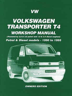 VW Transporter T4 Van Caravelle Petrol & Diesel Workshop Manual 1990-1995 NEW
