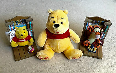 Disney Winnie The Pooh Bookend Buddies w./ 2 Storybooks + Interactive Plush