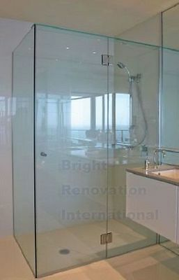 900X1000 Square Semi Frameless Shower Screen 10mm Toughen Glass with  U CHANNEL