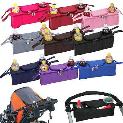 Baby Stroller Bag Accessories 3 in 1 Organizer Infant Carriage Hanging Bags New