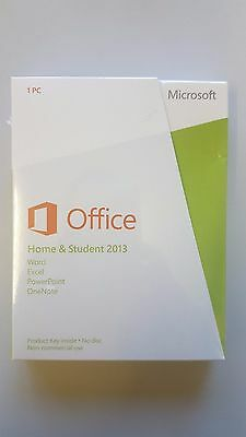 Microsoft Office Home and Student 2013  32-Bit/x64 ENGLISH EUROZONE MEDIALESS
