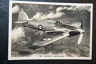 Hawker Hurricane  RAF Fighter   1930's Vintage Action Photo Card