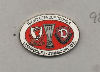 """Dynamo Dresden - FC Liverpool Fußball  Pin / Badge / Anstecker """"Uefa Cup 1972"""""""