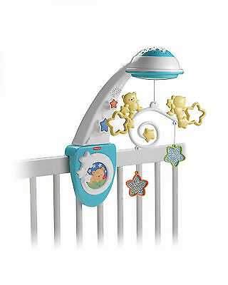 Baby Bed Mobile Toy Playset Projector Musical Starlight Cot Bears Relax Newborn