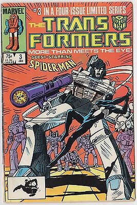 The TRANSFORMERS #3 Spider-Man Cover Story Black Costume Mini-Series