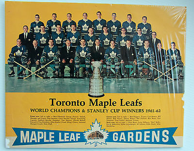 TORONTO MAPLE LEAFS World & Stanley Cup Winners 1961-1962 TEAM PIC