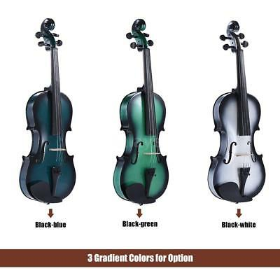 ammoon 1/2 Size Basswood Violin with Rosin Bow Violin Case Gradient Color S4V2