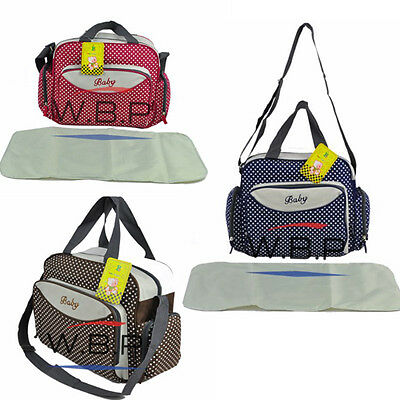 2pc Baby Changing Bag Diaper Tote Nappy Bag Quality Baby Bag