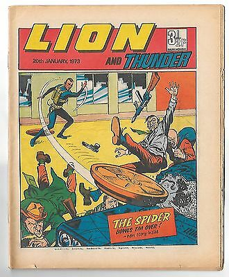 Lion 20th Jan 1973 (high grade copy) 4pg Spider, Spellbinder, Steel Commando