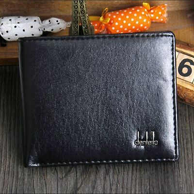 Pocket Design Bifold PU Leather Coffee Wallet Wallets Men Purse
