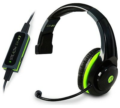 Stealth SX-02 Wired Gaming Mono Chat Headset for Xbox One 360 + stereo adaptor