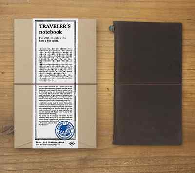 MIDORI TRAVELER'S notebook Regular size BROWN  Stationery Leather cover Japan