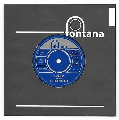 The High Numbers - Zoot Suit / I'm The Face - Fontana  Label  - New Condition