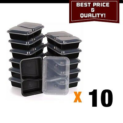 10 PCS Meal Prep, Microwaveable Containers! Best Price Two Parts.