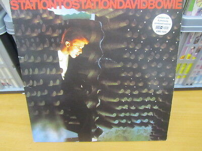David Bowie Station To Station Lp Gatefold Reissue Extra Tracks Ex+/ex Emd 1020