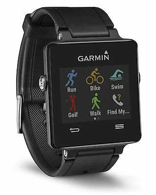 Garmin Vivoactive Activity Tracker Bluetooth GPS Fitness Smart Watch Black- New
