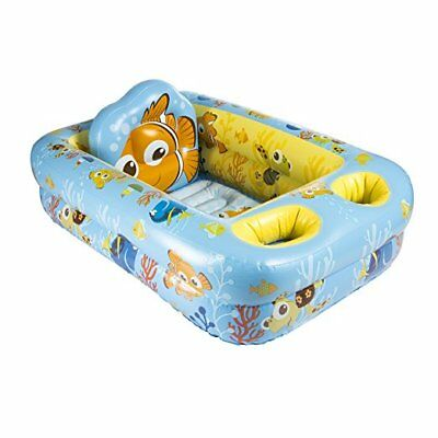Infant Inflatable Bath Tub Safety Baby Bathtub Back Support Head Rest Portable