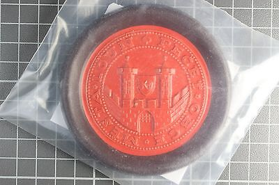New Souvenir From Louny, Czechoslovakia Showing Town Gate * Has Hole For Hanging