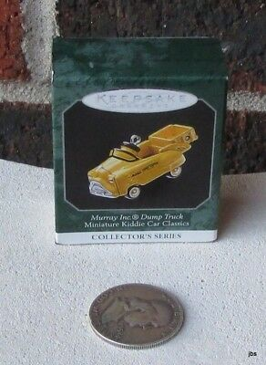 Murray Inc Dump Truck Kiddie Car Classics 1998 NIB Hallmark Miniature Ornament