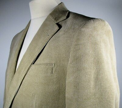"Retro Mens Brown Corduroy Blazer SMALL 38"" (36-38) 70s Style Cotton Jacket"