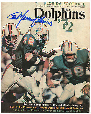 1972 Miami Dolphins Rare School Fundraiser Magazine Signed by Mercury Morris
