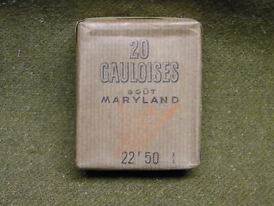 ancien Paquet Cigarette Gauloises Maryland WW2 french tobacco vintage full pack