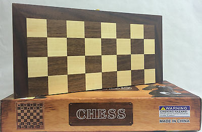 New Brown Wooden Chess Only Classic Board Game Gift Set 30cm x 30cm UK SELLER