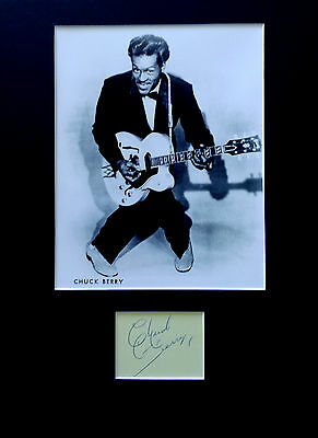 CHUCK BERRY signed autograph PHOTO DISPLAY