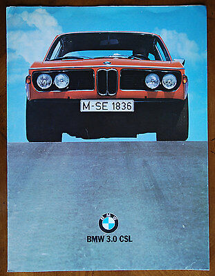 BMW 3.0 CSL Coupe (E9) Lightweight brochure prospekt, 1973 (German text)