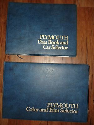 Mopar 1974 Plymouth Dealer Data & Color And Trim Book Selector Cuda Roadrunner
