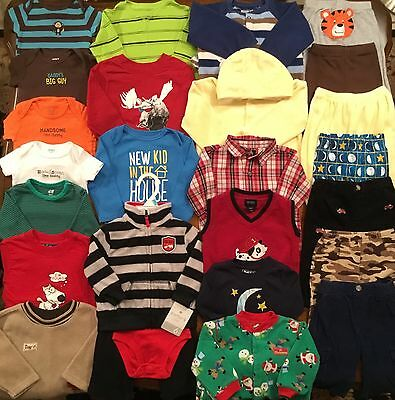 Huge Lot Of Baby Boy Clothes Size 6M 6-9M Euc Winter Holiday Christmas
