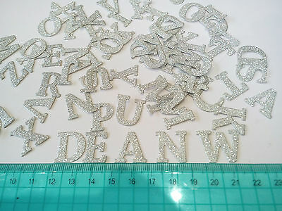 3 X 26 Packs Glitter Capital Alphabet Letters. Gold Or Silver.