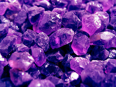 Amethyst gem facet rough from Tanzania 1 ounce lots 12 to 19 pieces 6-15 MM