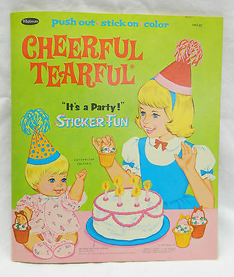 1967 Unused Complete Sticker Activity Book Mattel Baby Cheerful Tearful Doll