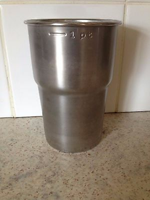 2 x Official Glastonbury Festival 2016 Stainless Steel pint cup