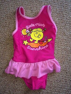 Pink 'little Miss Sunshine' Swimming Costume / 12-18 Months / TU / Ex. Condition